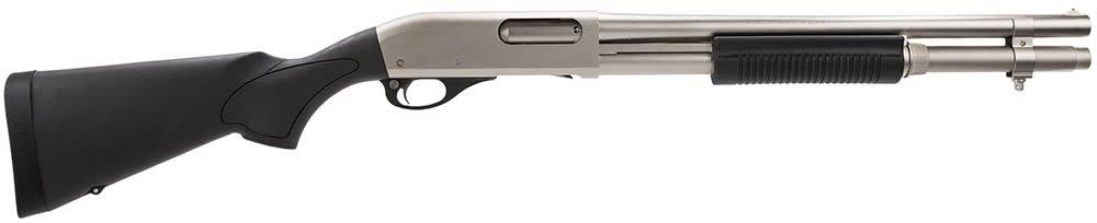 "REMINGTON ARMS - LONG GUNS REMINGTON 870 MARINE MAGNUM 12G 18"" BARREL NICKEL FINISH"
