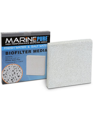 MarinePure Ceramic BioMedia Filter Plate 8x8x1