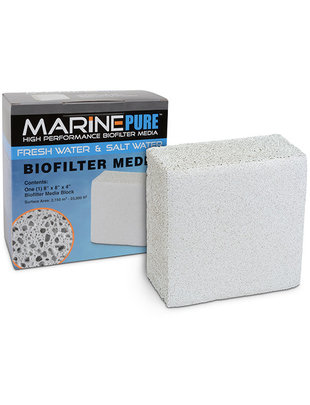 MarinePure Ceramic BioMedia Filter Block 8x8x4