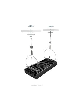 Aqua Illumination Single Module Hanging Kit  (Black) - Aqua Illumination