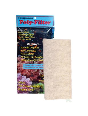 "Poly-Bio Marine Inc. Poly Filter, Chemical Filtration Pad (4""x8"") Poly-Bio Marine"