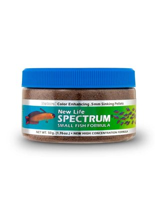 New Life Spectrum Small Fish Formula 0.5mm Sinking Salt/Fresh - New Life Spectrum