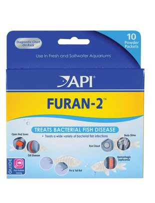 API API Medication, Furan-2 Fish Powder (10-Count) Glass Aquatics