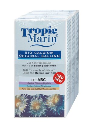 Tropic Marin Bio-Calcium Original Balling Dry Set (A+B+C, 3 x 1kg) Tropic Marin