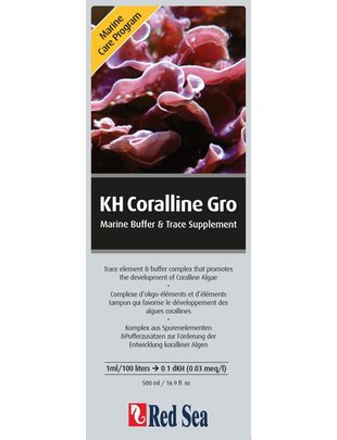 Red Sea KH Coralline Gro - Marine Buffer and Trace Element (500ml) Red Sea