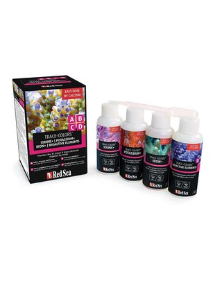 Red Sea Trace Colors ABCD 4-Pack (4x100mL) Red Sea