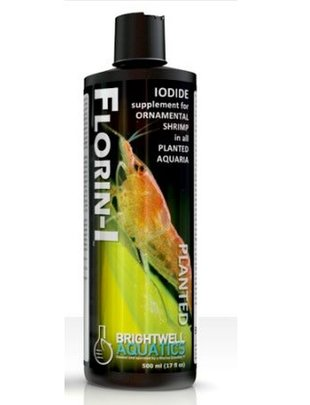 BrightWell Aquatics Florin-I - Iodide Supplement for Ornamental Shrimp in Planted Aquarium (500mL) Brightwell Aquatics