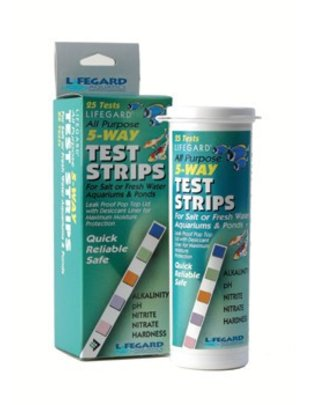Lifegard Aquatics Test Strip Kit 5 Way (25 pack) Lifegard Aquatics