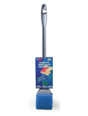 Lee's Aquarium Coarse Super Algae Scrubber w/ Handle for Glass Aquariums - Lee's