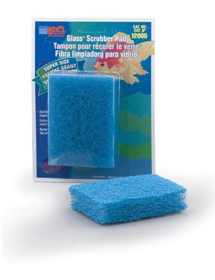 "Lee's Aquarium Coarse Scrubber Pad for Glass Aquariums (Super-Size, 3"" x 4"") Lee's"
