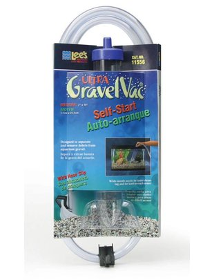 "Lee's Aquarium Self-Start Gravel Vacuum w/ Nozzle (Medium, 2"" x 10"") Lee's"
