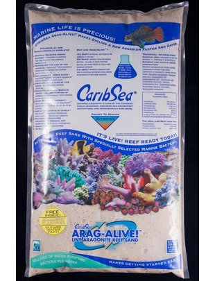 CaribSea Arag-Alive Fiji Pink Reef Sand (20lb) CaribSea
