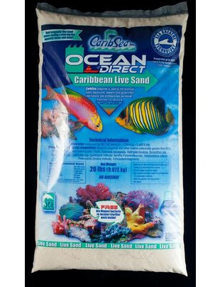 CaribSea Ocean Direct Reef Sand, Original Grade (40lb) CaribSea