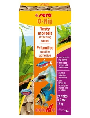 O-Nip Stick on Tablet Food for Freshwater (24 tabs) Sera