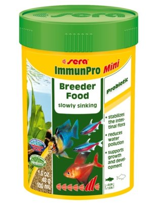 ImmunPro Slow-Sinking Breeder Food (Mini, 100ml) Sera