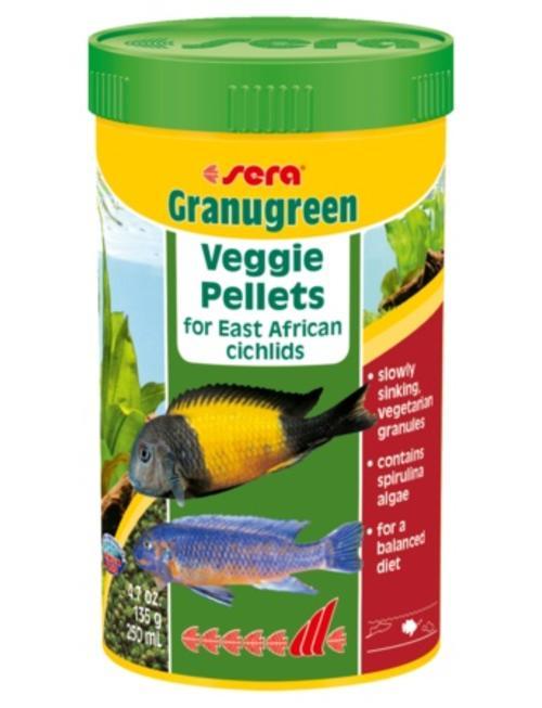 Granugreen Cichlid Sinking Veggie Pellets (250ml) Sera