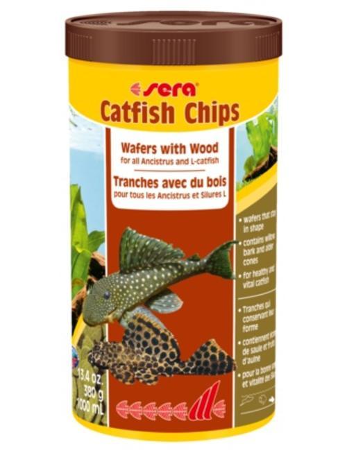 Catfish Chips, Wafers with Wood (13.4oz/1000 ml) Sera