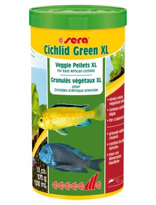 Cichlid Green Veggie Pellets (XL, 1000ml) Sera