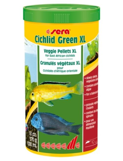 Cichlid Green Veggie Pellets (XL, 1000ml) Sera