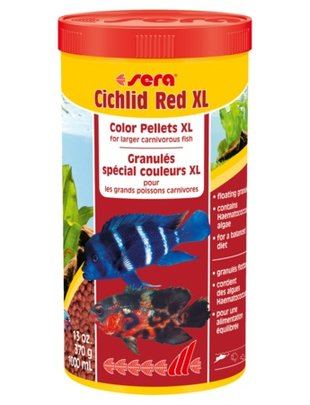 Cichlid Red XL Floating Color Pellets (1000ml) Sera