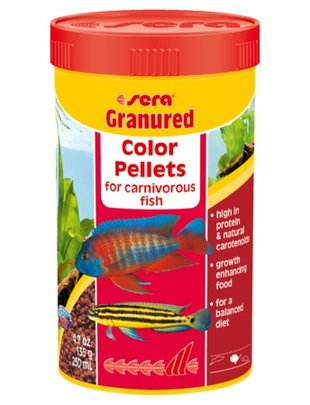 Granured Cichlid Sinking Color Pellets (250ml) Sera
