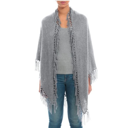 MINNIE ROSE MINNIE ROSE CASHMERE FRINGE SHAWL