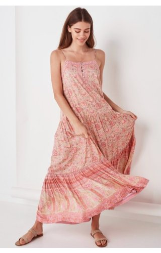 SPELL AND THE GYPSY COLLECTIVE SPELL POINCIANA STRAPPY MAXI DRESS