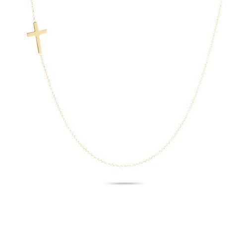 ADINA REYTER ADINA REYTER TINY CROSS NECKLACE