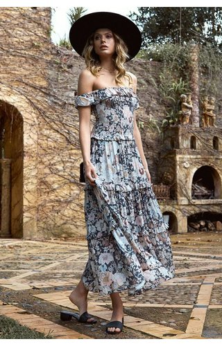 SPELL AND THE GYPSY COLLECTIVE SPELL AMETHYST SHIRRED SUNDRESS