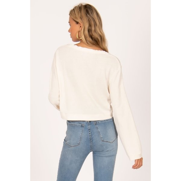 AMUSE SOCIETY COCONUT GROVE KNIT PULLOVER