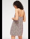 LACAUSA PRINTED SISSY SLIP DRESS