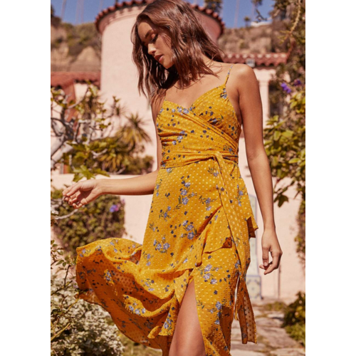 ASTR ASTR BETTE FLORAL MAXI DRESS