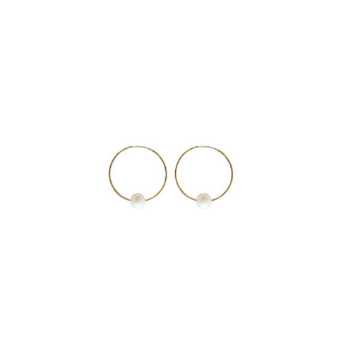 paradigm PARADIGM SMALL SINGLE PEARL HOOPS