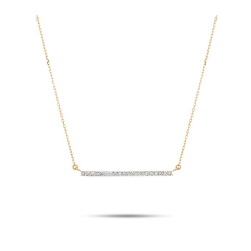 ADINA REYTER ADINA REYTER LARGE PAVÉ BAR NECKLACE