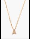 CHAN LUU WHITE DIAMOND INITIAL NECKLACE