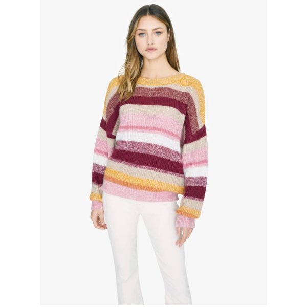 SANCTUARY BLUR THE LINES STRIPES SWEATER