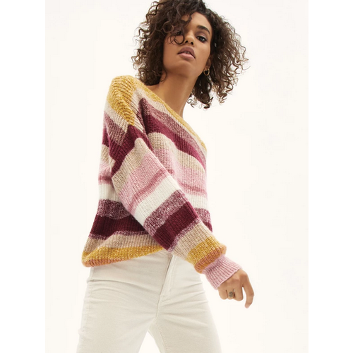 SANCTUARY SANCTUARY BLUR THE LINES STRIPES SWEATER