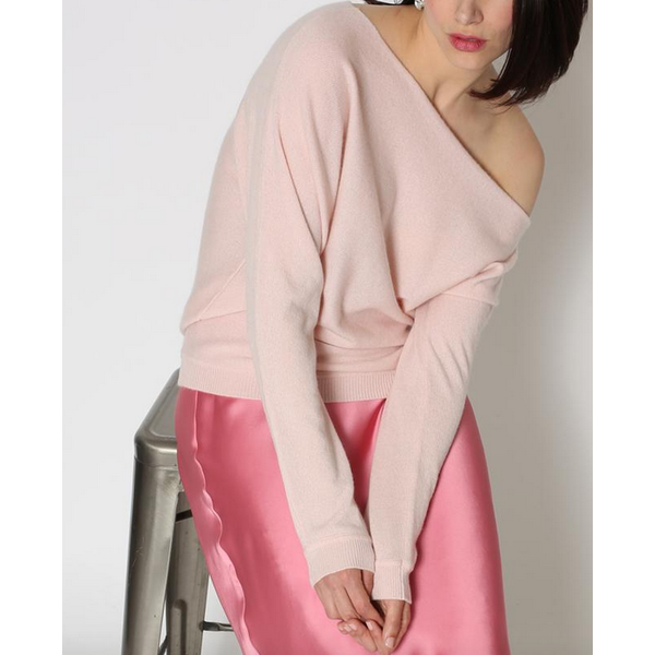 MNNIE ROSE CASHMERE OFF THE SHOULDER