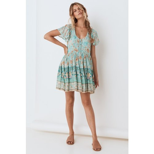 SPELL AND THE GYPSY COLLECTIVE SPELL SEASHELL MINI DRESS