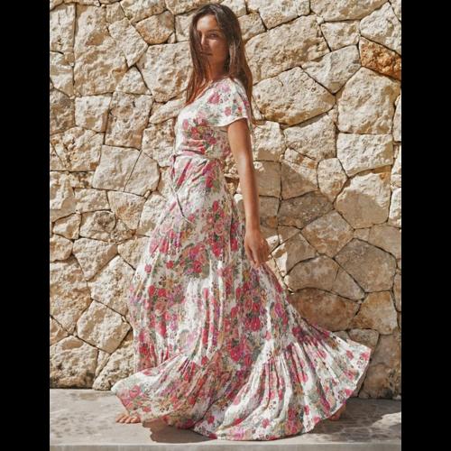 AUGUSTE AUGUSTE PROVENCE FAUX WRAP MAXI DRESS