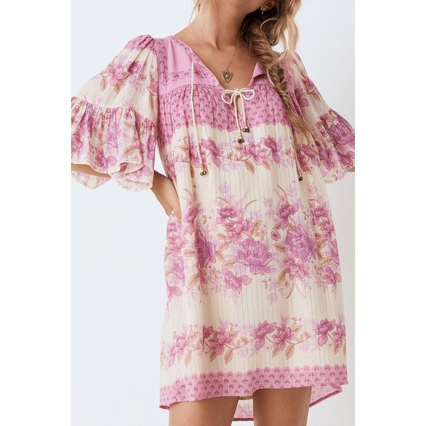 SPELL COCO LEI FLUTTER SLEEVE TUNIC
