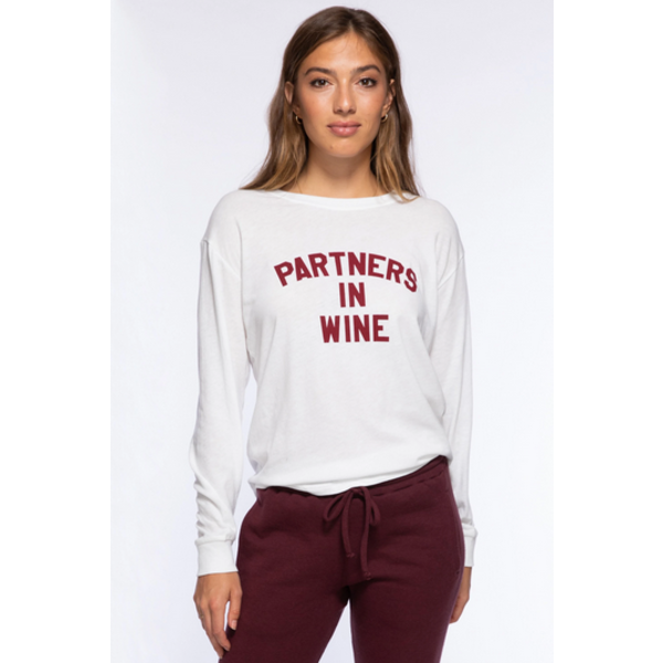 SUBURBAN RIOT PARTNERS IN WINE CAMP TEE