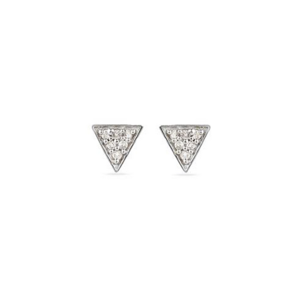 ADINA REYTER SUPER TINY SOLID PAVE TRIANGLE POSTS