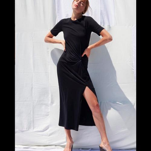 STATESIDE STATESIDE SUPIMA TWIST T-SHIRT MAXI DRESS