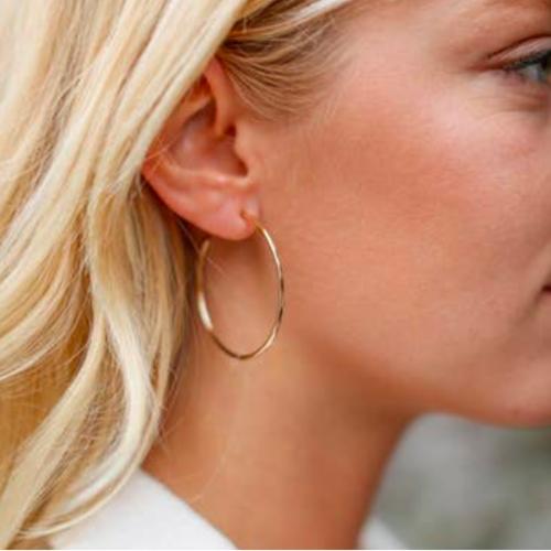 RAEGEN KNIGHT LARGE HOOP EARRINGS