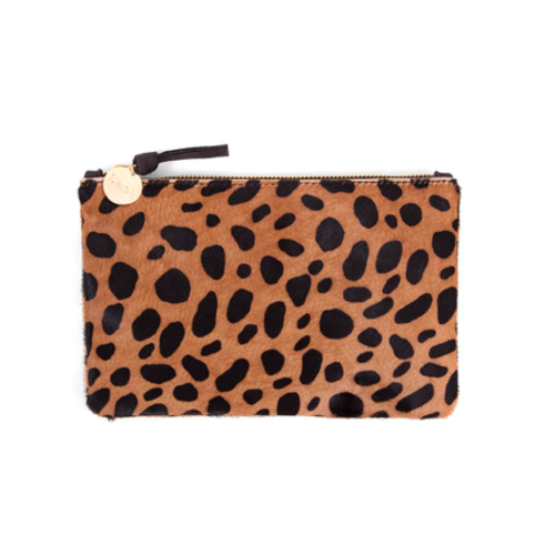 CLARE V. CLARE V. LEOPARD PRINT WALLET CLUTCH