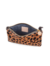 CLARE V. LEOPARD PRINT WALLET CLUTCH