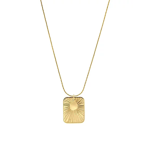 paradigm PARADIGM SMALL GLOW RECTANGLE NECKLACE