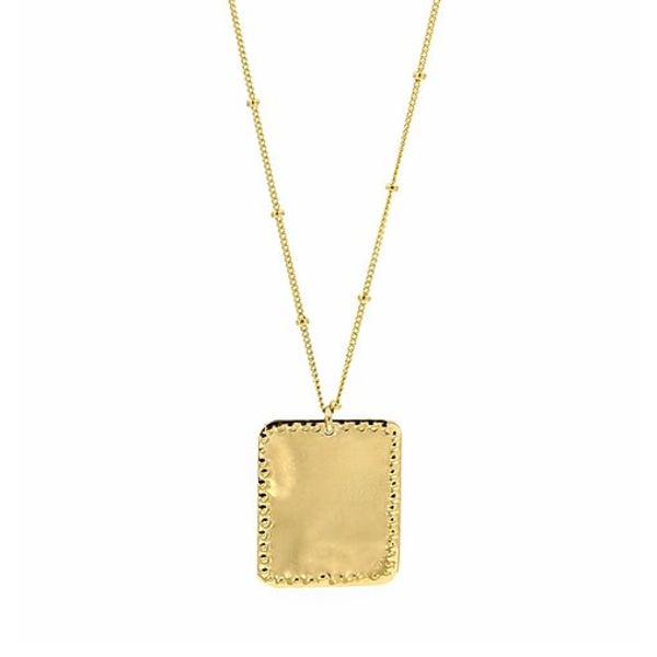 PARADIGM LARGE RECTANGLE STUDDED NECKLACE