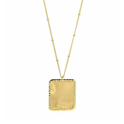 paradigm PARADIGM SMALL RECTANGLE STUDDED NECKLACE